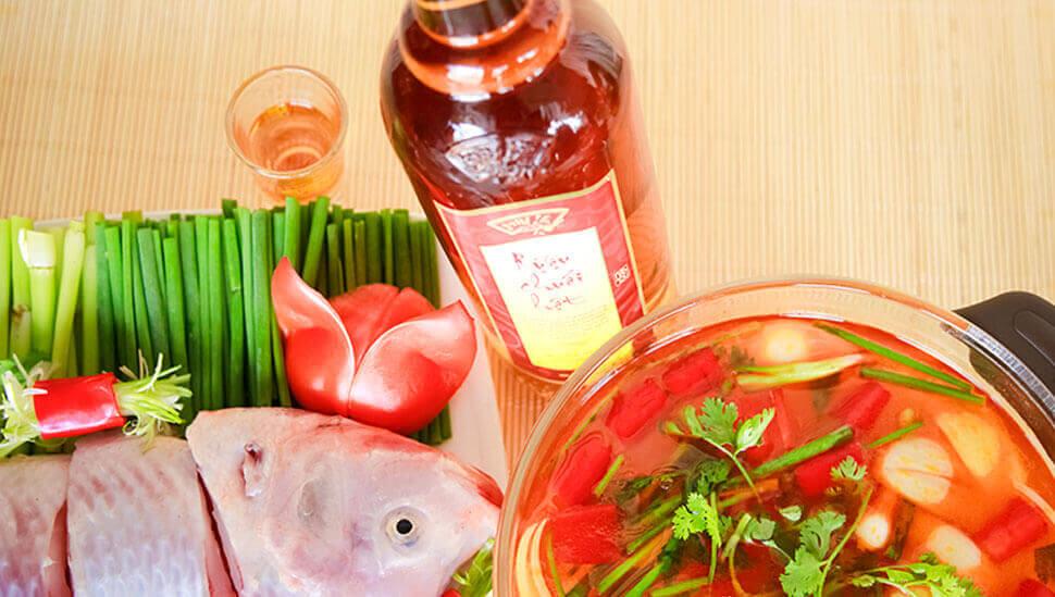 Lẩu cá điêu hồng